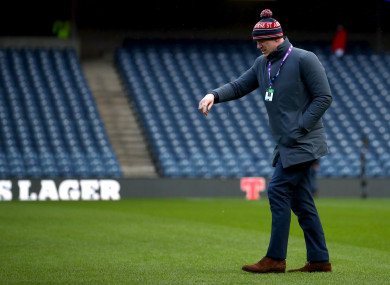 O'Connell on the field at Murrayfield before punditry duties with BBC.