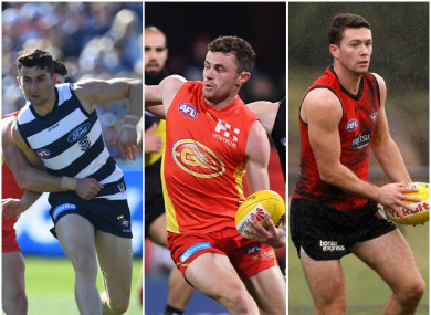Mark O'Connor, Pearce Hanley and Conor McKenna are all in AFL action this weekend.