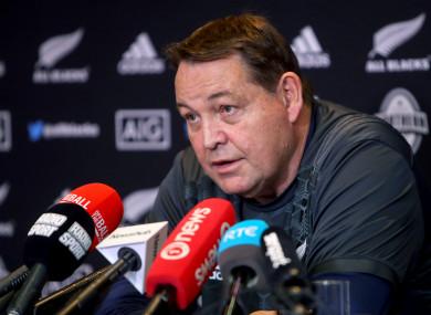 Steve Hansen believes Ireland are feeling the pressure having beaten the All Blacks in November.