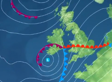 Storm Freya's projected path means Ireland may miss the worst of its winds