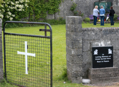 The grounds where an unmarked mass grave containing the remains of nearly 800 infants in Tuam Co Galway