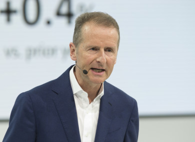 Herbert Diess CEO of Volkswagen.