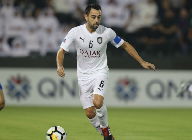Xavi playing for Al Sadd in Qatar.