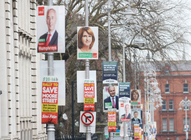 A scene in Dublin during the 2016 general election.