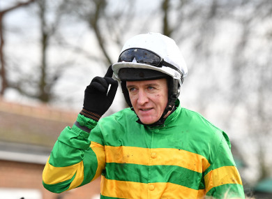 Geraghty is highly unlikely to feature in tomorrow's Grand National.