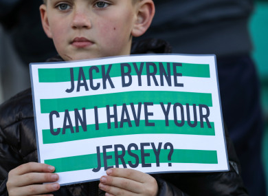 A young Rovers fan knew who the star man would be ahead of tonight's clash in Tallaght.