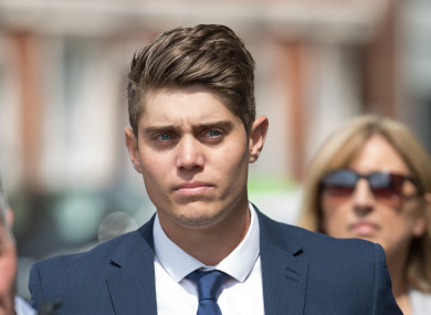 Alex Hepburn arrives in court for sentencing.