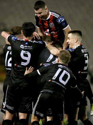 Bohs players celebrate a goal (file pic).