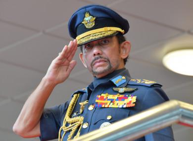 Brunei's Sultan Haji Hassanal Bolkiah.