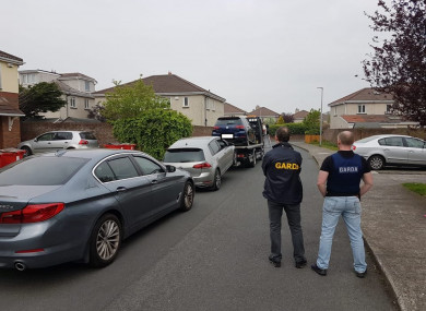 The cars which were seized.