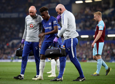 Callum Hudson-Odoi limped off last night.