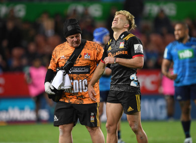 Damian McKenzie suffered a serious injury while in action for the Chiefs against the Blues.