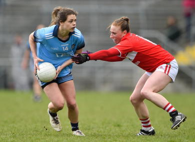 Dublin and Mourneabbey star Noelle Healy facing Ashling Hutchings.