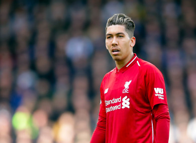 ff13c47fc06 Roberto Firmino injury casts shadow over Liverpool s five-goal rout