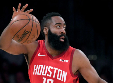 The Beard: Houston Rockets star James Harden.