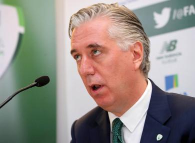 Former FAI CEO John Delaney.