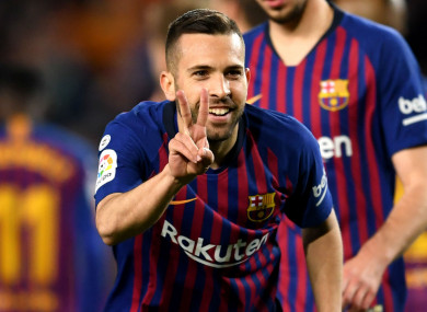 Barcelona full-back Jordi Alba.