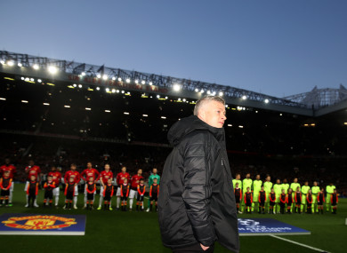 Ole Gunnar Solskajer before Wednesday's Champions League tie at Old Trafford.