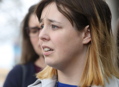 Annie Lafferty pictured outside court after the sentencing today.