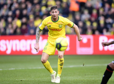 Emiliano Sala played for Nantes in Ligue 1.
