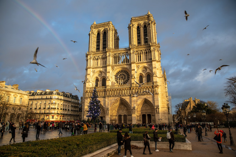 Image result for Notre-Dame cathedral: Firefighters tackle blaze in Paris