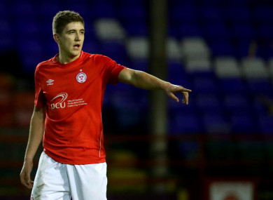 Oscar Brennan scored for Shelbourne in their 3-0 home win against Galway United (file pic).