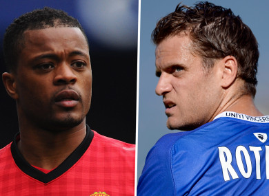 Patrice Evra and Jerome Rothen.