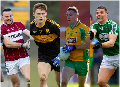 Mullinalaghta, Dr Crokes, Corofin and Gaoth Dobhair players are all honoured.