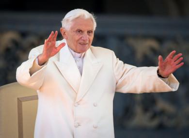 Pope Benedict XVI in 2013