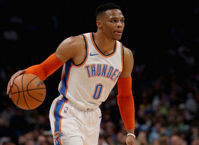 e5ab2eeafe1 Westbrook becomes second player ever to record 20/20/20 game · The42