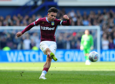 Aston Villa captain Jack Grealish.