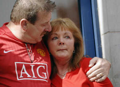 Carmel Collins with her husband Steve at a protest against gangland criminality in 2009.