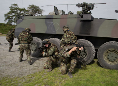 The Irish Defence Forces on exercises in the Glen of Imaal.