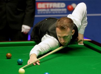 Judd Trump advanced to the World Championship semi-final this evening.