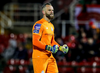 Stephen Bradley hailed Alan Mannus, pictured above, following his performance in the 1-0 win over St Pat's.