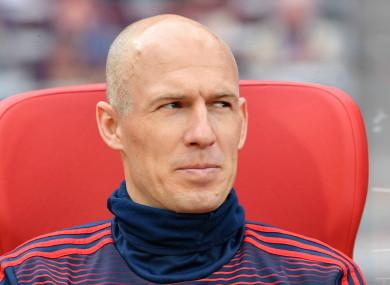 Bayern Munich winger Arjen Robben.