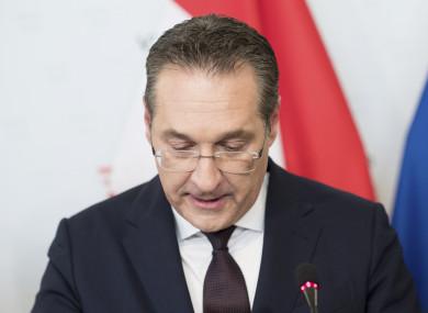 Austrian Vice Chancellor Heinz-Christian Strache.