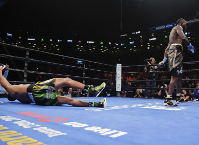 Deontay Wilder was victorious against Dominic Breazeale.