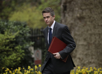 Gavin Williamson arriving for a Cabinet meeting