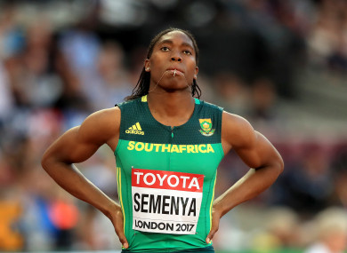 Caster Semenya released a statement on Wednesday.