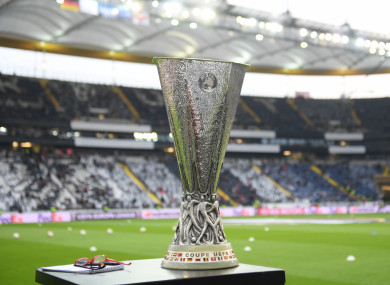 The Europa League trophy, the battle for which some fans might yet get to see.