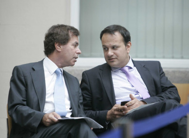 Former justice minister Alan Shatter and now Taoiseach Leo Varadkar, photographed in 2011