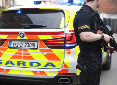 There will be increased armed support in west Dublin over the weekend.
