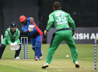 Shahzad punished Ireland's bowlers in Belfast.