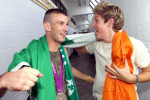 John Joe Nevin celebrates his Olympic silver medal with Niall Horan, then of One Direction.