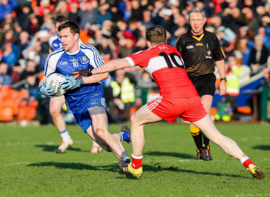 Monaghan and Derry are in the hat.