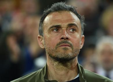 Spain coach Luis Enrique.