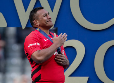 Vunipola was forced off during the first half of the win over Leinster.