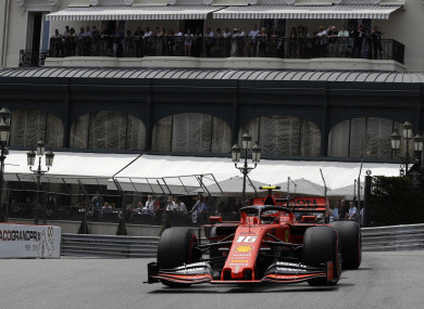 Charles Leclerc during third free practice at the Monaco Grand Prix.