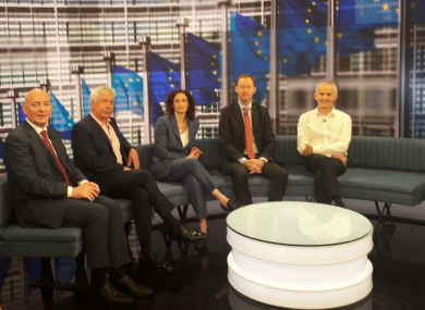 Candidates in RTÉ's studio today.